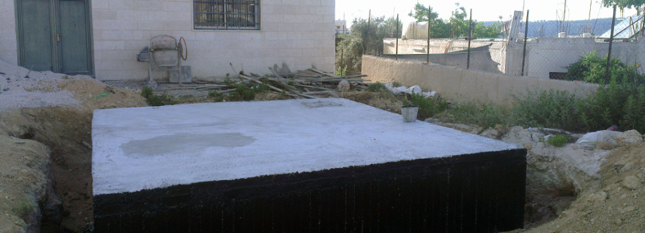 WRAP's third project completed, a cistern system at the Battir Girls High School in the West Bank.