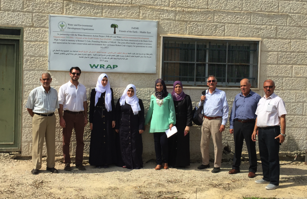 WRAP and school leadership at Battir Girls School, location of WRAP's first cistern project.